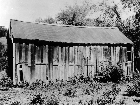 "Completed 1850. Local history has it that the county seat was ""captured"" from Double Springs, a cattle ranch-cum-mining town, when residents of nearby Jackson invited county officials for a few rounds of drinks and then made off with the county records. The remains of this building, made of camphor panels shipped from China, can still be seen in Double Springs, making it one of the oldest surviving structures once used as a courthouse in California. Courtesy Calaveras County Historical Society"