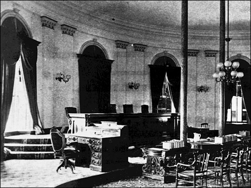 Courtroom in Capitol Building, Sacramento (1869-1874)