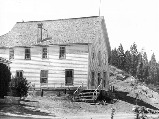 Completed 1875. Originally part of the Territory of Utah and then the Territory of Nevada, Alpine was recognized as part of California following an 1863 survey of state boundaries. Alpine's first county seat, Silver Mountain City, was abandoned in 1873 after the demonetization of silver, and the county government moved to Markleeville. This building, originally the Odd Fellows Hall, was used as the courthouse until 1928, when the courts moved to a more modern facility. Courtesy California State Museum